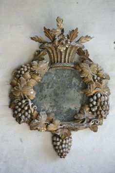 Antique Carved Mirror (17th Century