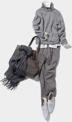 ファッション ファッション in 2020 Grey Fashion, Daily Fashion, Hijab Fashion, Winter Fashion, Fashion Outfits, Womens Fashion, Fashion Fashion, Mode Outfits, Fall Outfits