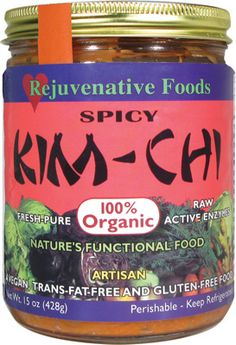 Rejuvenative Foods - Spicy Kim-Chi - Organic (15 oz) - Wholesale Food, Health, Beauty and more | Buyer's Best Friend