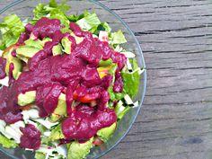 Siv-food: רוטב נא לסלט - זוקיני, עגבניות וסלק