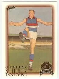 John Schultz. Footscray Football Club.