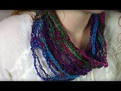 Airy Crochet Infinity Scarf - YouTube