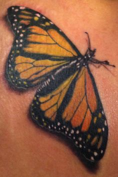 Monarch tattoo butterfly.