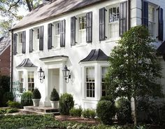 A White Colonial With Black Shutters And Red Door Has Always Been My Dream Home