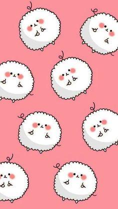 Cute Kawaii Sheep Wallpaper.