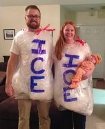 Parent and baby costume ideas - Ice Ice Baby Homemade Costume