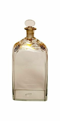 Swedish glass decanter with floral gilt, Sweden, 1800 on CLASSIQS - www.classiqs.com