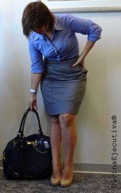 Divina Ejecutiva: Mis Looks - De Plomo & Celeste