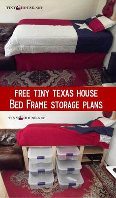 Free DIY Under bed storage plans from Tiny Texas House.net