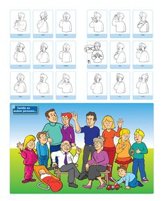 Spelling For Kids, Baby Sign Language, Family Theme, All Languages, Love Signs, Crafts For Kids, Teaching, Education, School