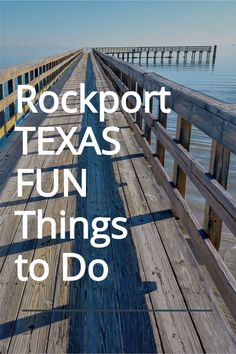Discover this gem on the Gulf Coast of Texas. Rockport Texas is an ideal coastal vacation spot to relax and enjoy beaches, fishing, hiking, birdwatching, and great seafood. Visit the aquarium, Rockport Beach, or the hike and bike trails. Birding on the Texas Gulf coast is incredible! Click for all the details on Rockport Texas Things to Do. Texas Bucket List | Rockport Texas Photography | Rockport TX Things to Do Rockport Beach, Rockport Texas, Road Trip Essentials, Road Trip Hacks, Summer Vacation Spots, Vacation Ideas, Texas Travel, Travel Usa, Beautiful Places To Travel