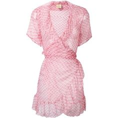 Cloe Cassandro diamond print mini dress ($162) ❤ liked on Polyvore featuring dresses, pink, short dresses, pink mini dress, harlequin dress, silk dress and pink dress