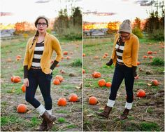 outfit post: stripes and mustard