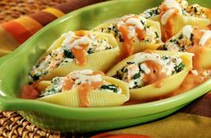 Mediterranean Salmon Stuffed Shells - use as basis for a stuffed shell served on a lettuce leaf