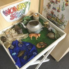 """Setting up a small world based on the popular story """"Wombat Stew"""". I need to add…"""