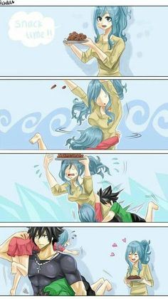 Gruvia is like literally my favorite couple in Fairy Tail. Fairy Tail Gray, Fairy Tail Ships, Rog Fairy Tail, Fairy Tail Juvia, Fairy Tail Funny, Fairy Tale Anime, Fairy Tail Love, Fairy Tail Guild, Fairy Tales