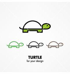 Turtle icon vector