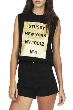 6df5a1ca7feded Stussy - Glitter Code Muscle - Black Street Trends