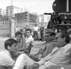 Luchino Visconti sul set di Rocco e i suoi fratelli