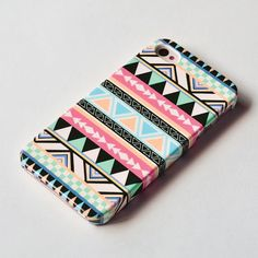 Pastel Aztec Geometric iPhone 4s case  iPhone 4 by IsolateCase. , via Etsy.