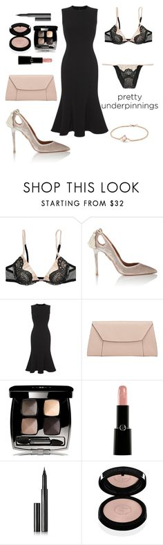 """Dulce"" by petra0710 ❤ liked on Polyvore featuring La Perla, Aquazzura, Dolce&Gabbana, Valextra, Chanel, Giorgio Armani, Surratt and David Yurman"
