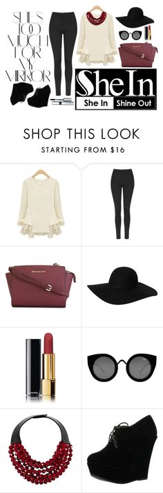 """""""November 6th 2015 #1"""" by aledadi on Polyvore featuring Rika, Topshop, MICHAEL Michael Kors, Monki, Chanel, Quay, Fairchild Baldwin, Forever Link and By Terry"""