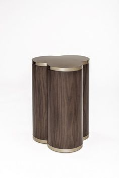 Walnut Side Table with Metal Accents. #interiordesign #casegoodsideas moder home decor, interior design ideas, casegood inspirations. See more at http://www.brabbu.com/en/inspiration-and-ideas/category/trends/interior: