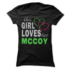 This Girl Love Her MCCOY - 99 Cool Name Shirt ! - #short sleeve shirts #make your own t shirts. THE BEST => https://www.sunfrog.com/LifeStyle/This-Girl-Love-Her-MCCOY--99-Cool-Name-Shirt-.html?60505