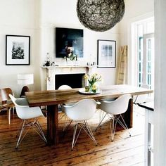 Dining Room  Home  Pinterest  Room Cool Wire Dining Room Chairs Decorating Inspiration