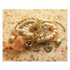 @EverBuying  $3.58 Corean Fashion and Lovely Style Multi-Pendants Decorated Bracelets(Ten Bracelets For A Group) #gifts