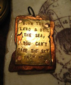 You Can't Take the Sky From Me - Firefly Pendant
