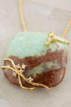 Landschap Pendant Necklace - cool spin on wire wrapped pendant - anthropologie.com