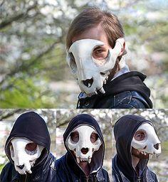 Feline Skull Mask by Everruler.deviantart.com on @DeviantArt