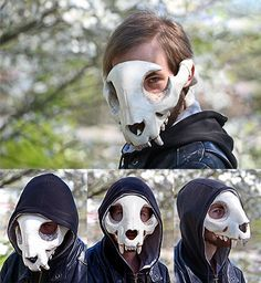Feline Skull Mask by Everruler.deviantart.com on @DeviantArt