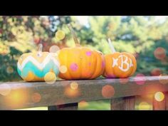 Quick & easy tutorial showing you different ideas and designs for decorating pumpkins this fall. Perfect for Halloween!