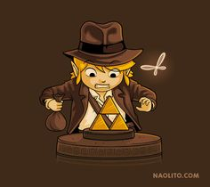 Indiana Link T-Shirt - Legend of Zelda T-Shirt is $12 today at Once Upon a Tee!