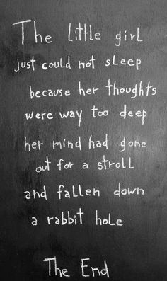 Little girl with insomnia.