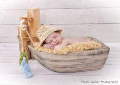 Newborn Little Fisherman Hat and Fish Set -  Photo Prop. $15.00, via Etsy.