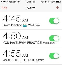 Getting up for morning practice, while painful, is actually a badge of honor. | 29 Secrets Swimmers Won't Tell You
