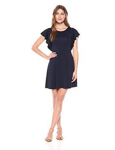 Karen Kane Women's Cascade Sleeve Dress, Navy, L   #FreedomOfArt  Join us, SUBMIT your Arts and start your Arts Store   https://playthemove.com/SignUp