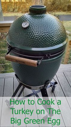 The steps I used to cook a turkey (for the first time!) on the Big Green Egg. It turned out great!