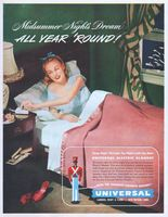 Universal Electric Blanket 1947 Ad Picture