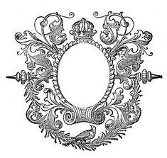 Crown Frame - free printable