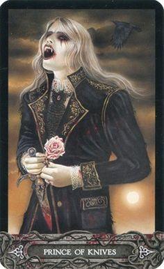 Knight of Swords from the Tarot of Vampyres