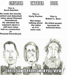 Christian terrorism in full view