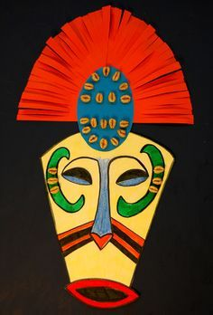 I especially like the mouth, and the head dress: african masks folk art   African Art Masks For Kids