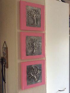 Pewter art Pewter Art, Pewter Metal, Copper Metal, Metal Tape Art, Metal Artwork, Aluminum Foil Crafts, Metal Crafts, Metal Worx, Make Your Own Sign