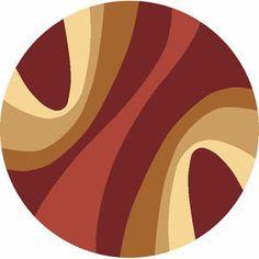 """Torino Swirls Red 5'3"""" Round Boscovs"""