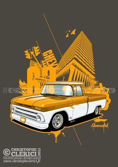 Les illustrations de christophe: Chevrolet pick-up 1963