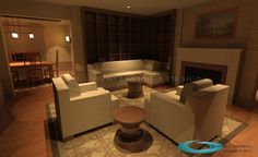 Living room we designed in Los Angeles.